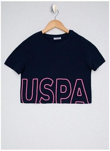 U.S. Polo Assn. U.S. Polo Assn. Kız Çocuk Lacivert Pembe Pijama Takımı Lacivert